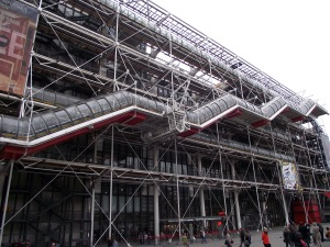 Centre Pompidou from the outside, Oct. 2013.