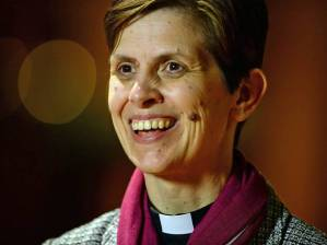 Libby Lane, the first female Bishop. http://www.independent.co.uk/news/uk/home-news/manchester-vicar-rev-libby-lane-will-be-churchof-englands-first-woman-bishop-9931754.html